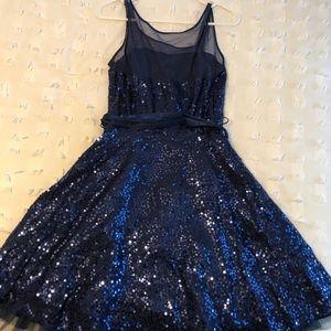 Navy Betsey Johnson Homecoming Dress